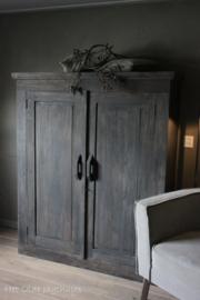 Holz Schrank 2 Türen