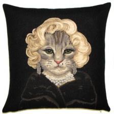 Gobelin Kissen Katze
