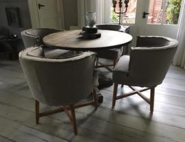 Ronde Tafel met eetkamerstoelen Dirkje