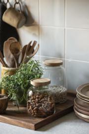 Glazen Pot met Bamboe Deksel 2100 ml