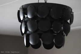 Metalen Schijvenlamp Plafonniere Zwart