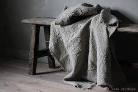 Shabby Linnen Plaid Hert 100x98 cm