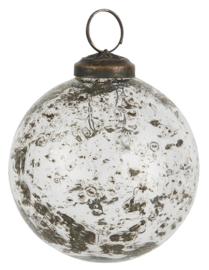 Christmas Ornament Pebbled Glass Clear Ø8 cm