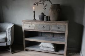 Beistelltisch Driftwood mit 3 Schubladen und unterer Ablage