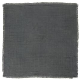 Baumwollserviette Dunkelgrau 40x40 cm