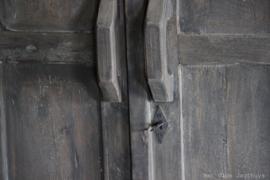 Kast Oud Hout 2-deurs met lades