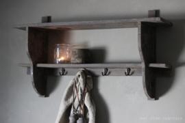 Landelijke kapstok ''Vintage Grey''