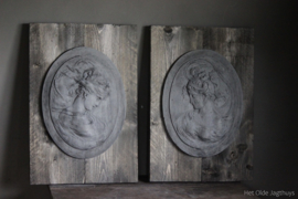 Ornament Hout en Beton -Juul- (set van 2)
