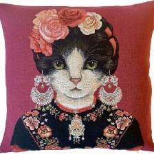 Gobelin Kissen Dekorierte Katze