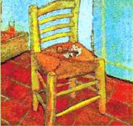Gobelin Kissen Van Gogh Der Stuhl 45x45cm
