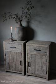 Nachttische altes Holz (Set)