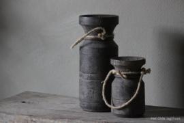 Kerzenhalter Wasserkrug Vintage Grey Small