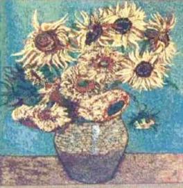 Gobelin kussen Van Gogh Zonnebloemen 45x45cm