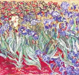 Gobelin kussen Van Gogh Irissen 45x45cm