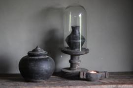 Stolp op houten voet ''Vintage Grey'' Small