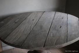 Ronde Eettafel Oud Hout 120 cm
