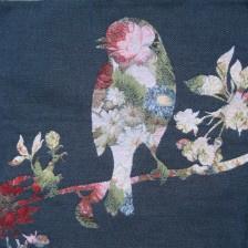 Gobelin kussen Vogel met bloemen 50x50cm