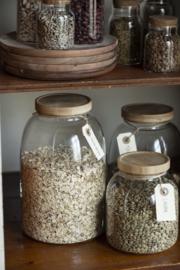 Glazen Pot met Bamboe Deksel 3100 ml