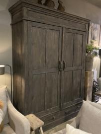 Holz Schrank 2 Türen mit Schubladen