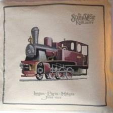 Gobelin Kissen lokomotive