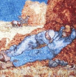 Gobelin Kissen Van Gogh Répose de paysan 45x45cm