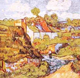 Gobelin Kissen Van Gogh The House 45x45cm