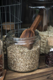 Scoop oiled acacia wood