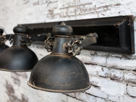 Lamp Factory Oud Zwart met 3 Spots
