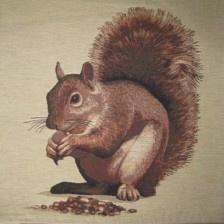 Gobelin Kissen Eichhörnchen Beige