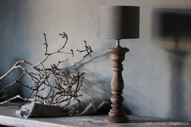 Houten Lamp Roos 50 cm | Lampen en Lampenkappen | Het Olde