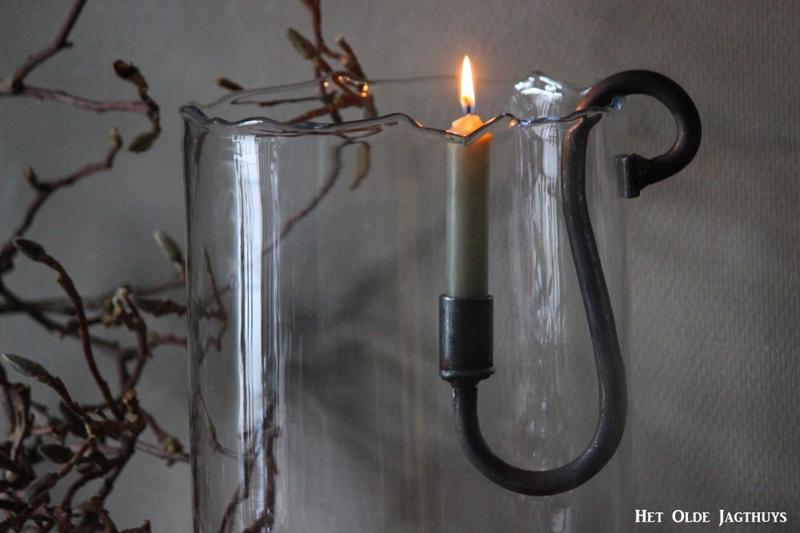 Hängender Kerzenhalter Metall 21cm