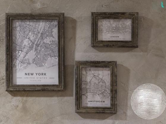 Fotorahmen Grey Finish 10x15cm