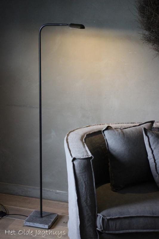 Vloerlamp Ronde Buis Boog Led Aura Peeperkorn (grijze buis)