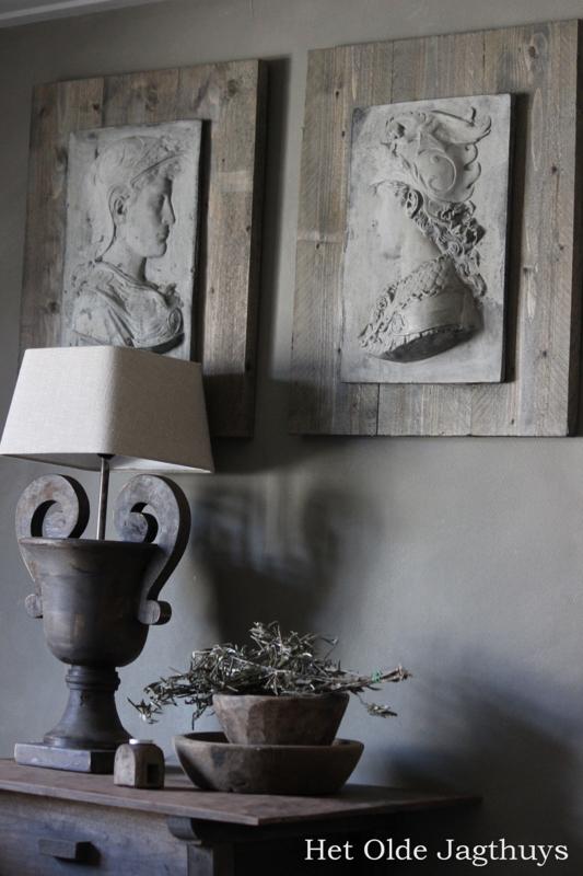 Scipione Ornament Hout En Beton Afhalen Of Bezorgen