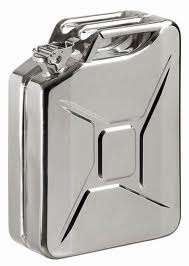 JERRY CAN 20 LITRE STAINLESS STEEL