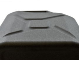20l Jerry Can - Matte Black Steel Finish - by Front Runner