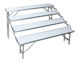 traptafel 30 x 150cm (4 traps) (E-304)