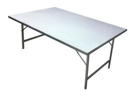 Tisch mit Aluminiumplatte  0,80 x 1,50 x 0,80 mm