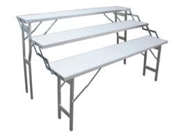 traptafel 30 x 150cm (3 traps) (E-303)