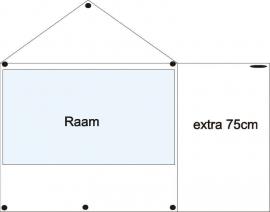 Seite Plane und zusätzlichen 75 cm