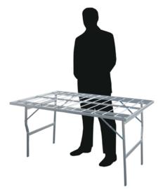 vlakke tafel 80 x 150 x 80 cm hoog  (B8080)
