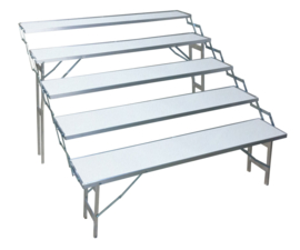 traptafel 30 x 150cm (5 traps) (E-305)