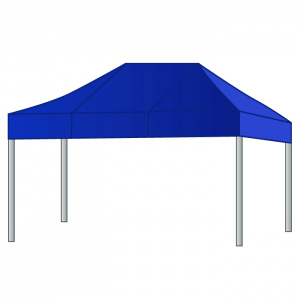 Silver tent  4,50 x 3 mtr.