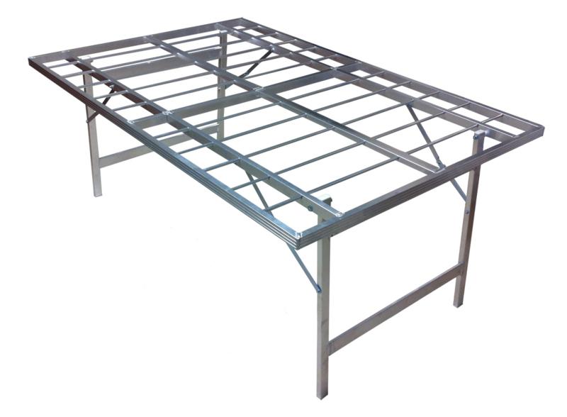 vlakke tafel 100 x 150 x 80 cm hoog  (B8010)