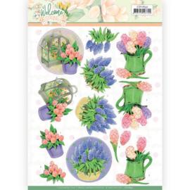 3D knipvel - Jeanine's Art Welcome Spring - Hyacinth