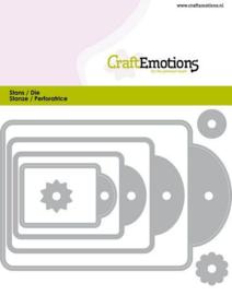 CraftEmotions Die - labels 4 formaten