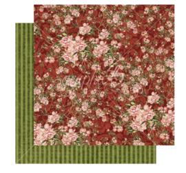 Scrap - Burgundy blossoms