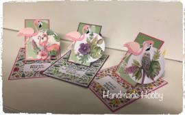 Flamingo schuifkaart..