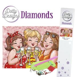 Dotty Designs Diamonds -Bubbly Girls - Cheers