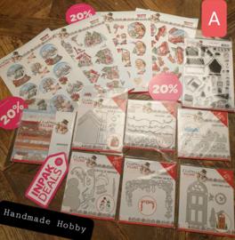 INPAKDEAL Pakket A: Christmas Village - Yvonne Creations